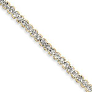 Yellow Gold 14K 2 Carats Diamond Bracelet Sparklin
